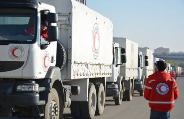 Red Crescent Red Cross convoy in Syria