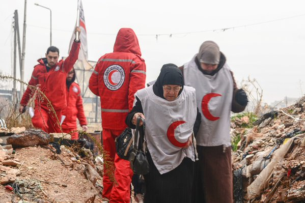 Red Cross Red Crescent charity Aleppo Syria