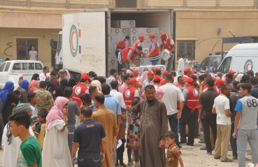 Iraq 2016 The Red Cross Red Crescent movement assists people fleeing from danger