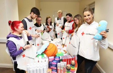 TV Presenter and DJ, Vogue Williams took time out to volunteer at the Irish Red Cross Jasmine Ball