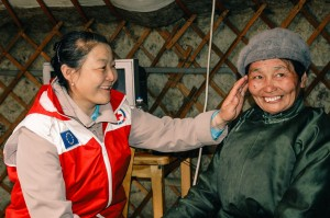 Mongolian Red Cross volunteers