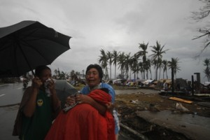 two sisters find each other for the first time after being seperated when Typhoon Haiyan hit. two sisters find each other for the first time after being seperated when Typhoon Haiyan hit. Photo: Red Cross