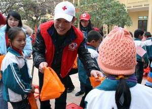 "Li has been a ""philanthropic ambassador"" of the Red Cross since January 2006"