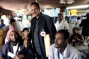 Yemen. Every week, Mohamed Hersi, an ICRC tracing officer, meets with Somali nationals seeking refuge in Sana