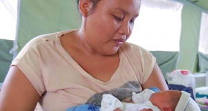 The field hospital in Ormoc has seen a number of births since it was established a few days ago
