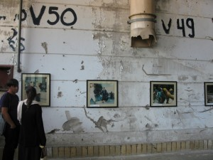 Inside Srebrenica's former UN building, Lisa Ghali looks at photographs that tell the town's tragic history.