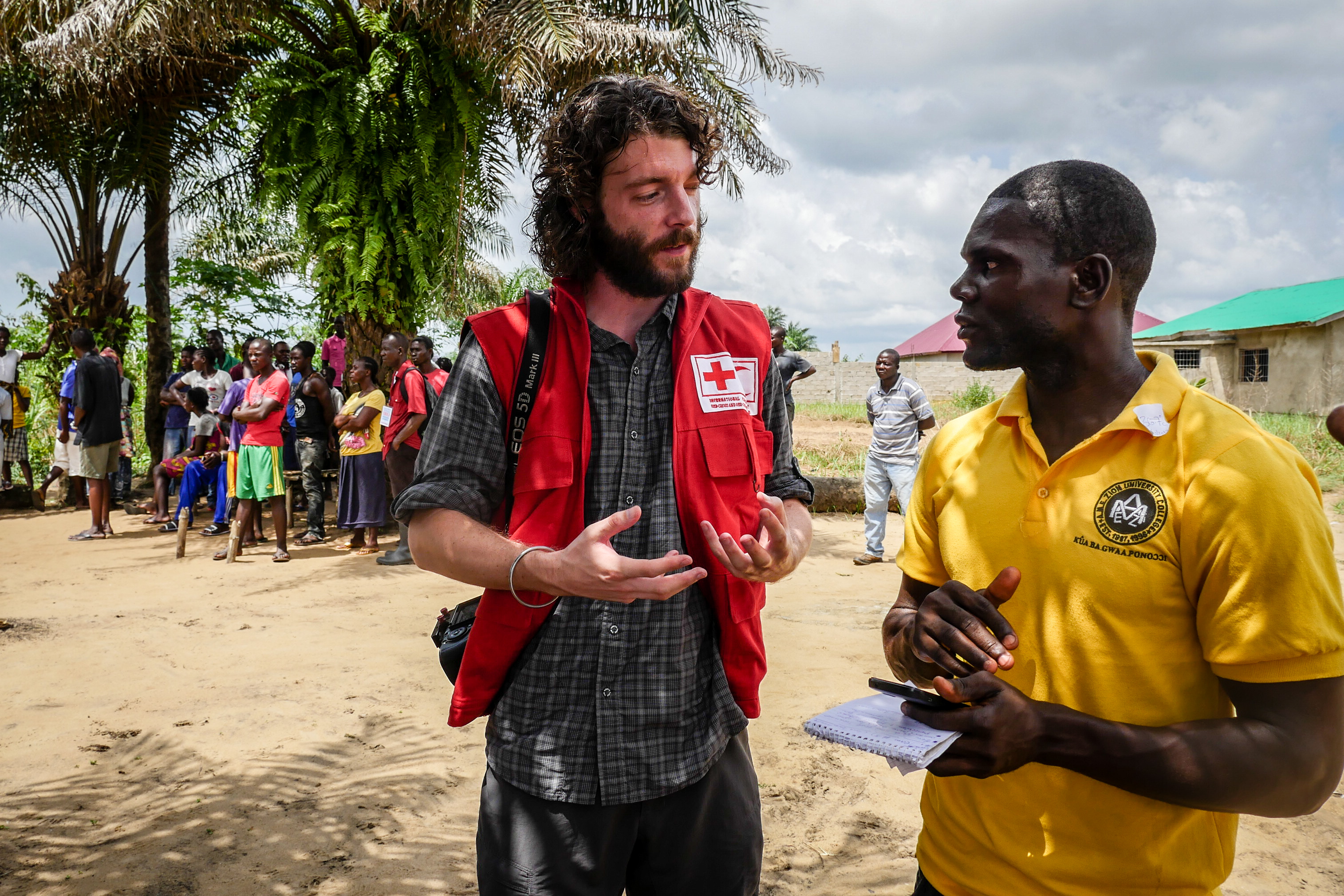 Irish Red Cross staff in Liberia + west Africa + Ebola
