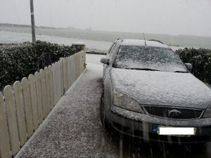 Snow in Ardee, county Louth.
