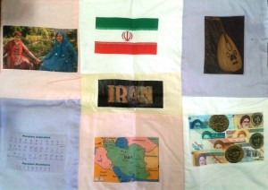Iran Patchwork Quilt - Irish Red Cross Youth - Finalist