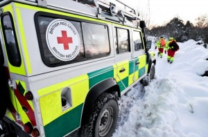 With more snow warnings being issued the British Red Cross are helping people prepare