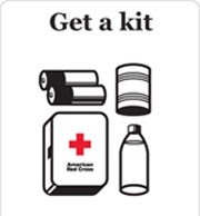 Every Home Should have a First Aid Kit... ...Containing at least:  Adhesive dressings (plasters), Sterile dressings, Sterile eye pads, Triangular bandages, Safety pins, Disposable gloves.