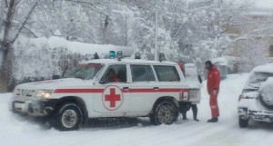 Volunteers from the Lebanese Red Cross have assisted in emergency rescue operations after snow storms.