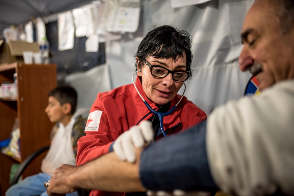 The first mobile health team of the Hungarian Red Cross was deployed in Idomeni on 19 February 2016 to provide health assistance on Greece