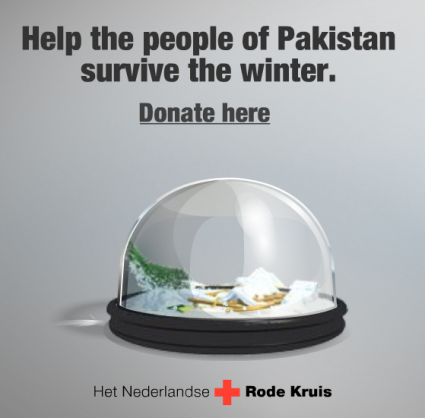 A clever advertising campaign from the Netherlands Red Cross