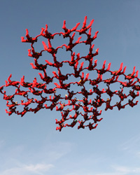 8 female skydivers called the Brit Chicks built a giant freefalling red cross in the skies above Langar Airfield, near Nottingham, to set a new British Women