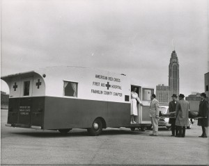 One of our earliest Red Cross First Aid Services vehicles