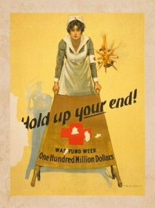 Vintage Volunteer Poster War Fund Week