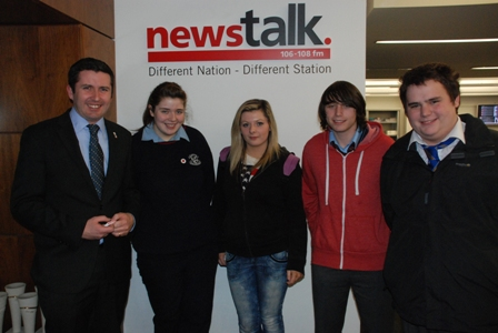 """All of this to us seems so normal. It is our reality""   IRCY members Sean Lennon, Lea Pepper, Rhys Hislop Holden and Nikita Kinsella (15 - 16 years old) spoke to Newstalks Jonathan Healy about Cyberbullying.  They did an amazing job - and you can now listen to the show at the link below. their interview starts at 37 minutes 31 seconds in.   Well done to all involved!!! >>http://bit.ly/UnV73o"