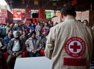 The Indian Red Cross Society is running awareness session for the workers of a Coca-Cola factory in Amritsar.